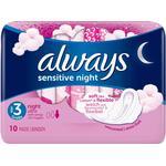 Always Sensitive Night Ultra 10-pack
