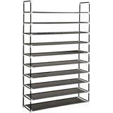 Shelves tectake Shoe Shelf 402106 10 Shelving System