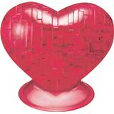 3D-Jigsaw Puzzles Hcm-Kinzel Crystal Puzzle Heart Red 46 Pieces