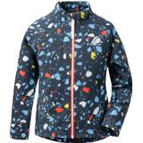Outerwear Children's Clothing Didriksons Monte Kid's Printed Jacket - Navy Terazzo (502946-814)