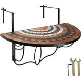 Outdoor Furniture tectake Mosaic Balcony Table