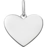 Thomas Sabo Engravable Heart Pendant - Silver