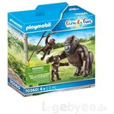 Action Figures Playmobil Gorillas 70360