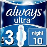 Menstrual Pads & Pantiliners Always Ultra Night Size 3 10-pack