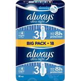 Menstrual Pads & Pantiliners Always Ultra Night Size 3 18-pack