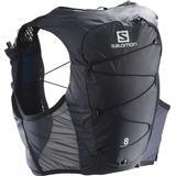 Running Backpacks Salomon Active Skin 8 Set - Ebony/Black