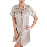 Pyjama Camille Luxurious Knee Length Satin Nightshirt - Grey