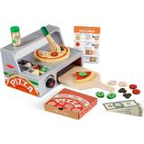 Food Toys Melissa & Doug Top & Bake Pizza Counter Wooden Play Food