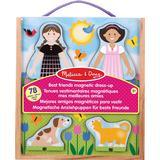 Knob Puzzles Melissa & Doug Best Friends Magnetic Dress Up 78 Pieces