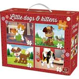 King Little Dogs & Kittens 4 in 1 Suitcase 72 Pieces
