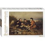 Classic Jigsaw Puzzles Step Puzzle Russian Museum Perov. Hunters Stop to Rest 1000 Pieces