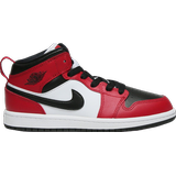 Air jordan 1 mid white Children's Shoes Nike Air Jordan 1 Mid GS - Black/Red