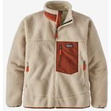 Fleece Tops Men's Clothing Patagonia Classic Retro X Fleece Jacket - Natural w/Barn Red