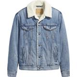 XL Men's Clothing Levi's Sherpa Trucker Jacket - Buckman Light Wash
