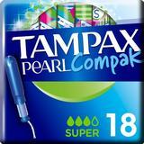 Tampons Tampax Pearl Compak Super 18-pack