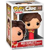Clue funko pop Toy Figures Funko Pop! Clue Miss Scarlet with Candlestick