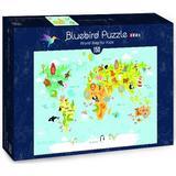 Bluebird World Map for Kids 150 Pieces