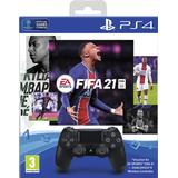 Fifa 21 ps4 game Game Controllers Sony DualShock 4 Wireless Controller - Black and FIFA 21 Bundle (PlayStation 4)