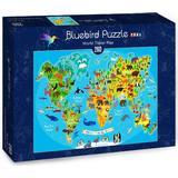 Classic Jigsaw Puzzles Bluebird World Travel Map 260 Pieces