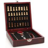 InnovaGoods Chess & Wine Bar set 37 pcs