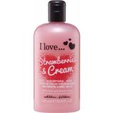 Body Washes I love... Strawberries & Cream Bath & Shower Crème 500ml