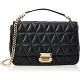 Michael Kors Sloan Large Quilted Leather Shoulder Bag - Black
