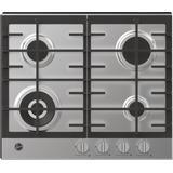 60cm gas hob with wok burner Cooktops Hoover HHG6BF4K3X