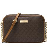 Handbags Michael Kors Jet Set Travel Logo Crossbody Bag - Brown
