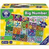 Floor Jigsaw Puzzles Orchard Toys Big Number 20 Pieces