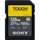 Sony flash Memory Cards & USB Flash Drives Sony Tough SDXC Class 10 UHS-II U3 V60 277 / 150MB / s 128GB