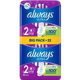 Menstrual Pads Always Ultra Long with Wings Plus Size 2 22-pack
