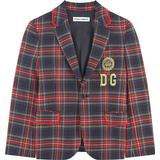 Blazers Children's Clothing Dolce & Gabbana Single-breasted Tartan Blazer - Multicolor