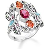 Rings on sale Thomas Sabo Dragonfly Ring - Silver/Multicolour