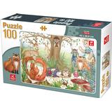 Classic Jigsaw Puzzles Dtoys Forest Animals 100 Pieces