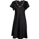 Nightgown Lady Avenue Pure Silk Nightgown - Black