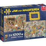 Jigsaw Puzzles Jumbo Jan Van Haasteren A Trip to The Museum 2x1000 Pieces