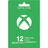 Redeem Cards Microsoft Xbox Live Gold Card - 12 Months