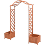 vidaXL Trellis Rose Arch with Planters 180x40cm