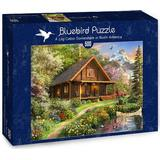 Classic Jigsaw Puzzles Bluebird A Log Cabin Somewhere in North America 500 Pieces