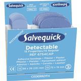 Cederroth Salvequick Blue Detectable Plasters Fingertip/Regular 30x6-pack Refill