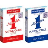 Board Games Waddingtons Number 1 Playing Cards - Red and Blue Twin Pack