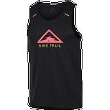 Nike Rise 365 Trail Running Tank Top Men - Black/Laser Crimson