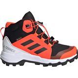 Children's Shoes Adidas Kid's Terrex Mid GTX - Core Black/Core Black/Solar Red