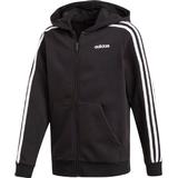 Adidas Boy's Essentials 3 Stripes Hoodie - Black/White (DV1823)