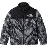 Down Jackets Children's Clothing The North Face Youth 1996 Retro Nuptse Jacket - Meld Grey Mountain Camo Print