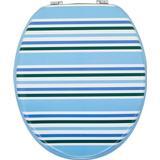 Toilet Seat Aqualona Nautical Stripe (64313)