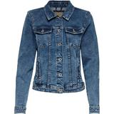 Only Tia Life Short Denim Jacket - Blue/Medium Blue Denim