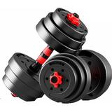Maxstrength Adjustable Dumbbell Barbell WeightLifting Set 10kg
