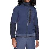 Sportswear Nike Tech Fleece Woven Full Zip Hoodie Men - Midnight Navy/Thunder Blue/Dark Obsidian/Black
