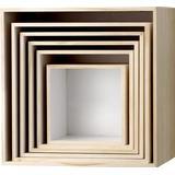 Wall Shelves Bloomingville Caja 35cm 6-pack Wall Shelf